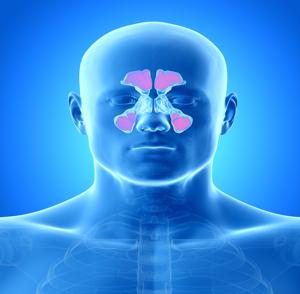 Detoxikace nosu - dutiny v kosti čelní